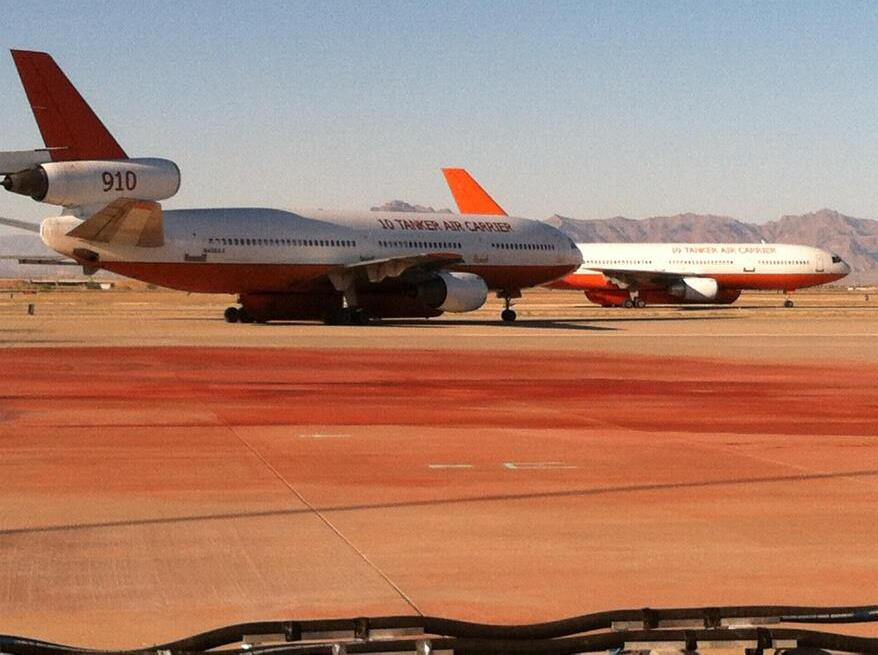 Two DC-10s at Mesa Gateway fighting Doce Fire 6-18-2013 photo by Jason Volentine KTVK