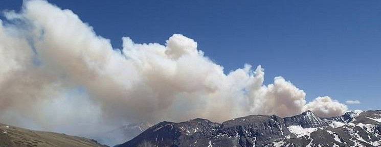 Big Meadows Fire in Rocky Mountain National Park