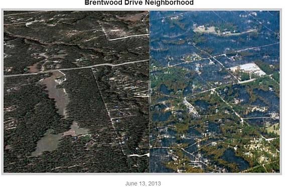 Black Forest Fire, Denver Post, before-after