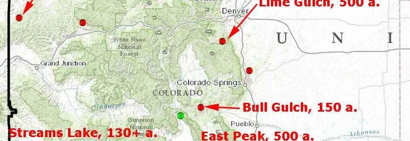 Map of Colorado wildfires, June 20, 2013