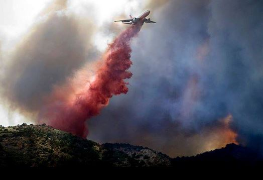 DC-10 drops on the Royal Gorge Fire, June 11, 2013