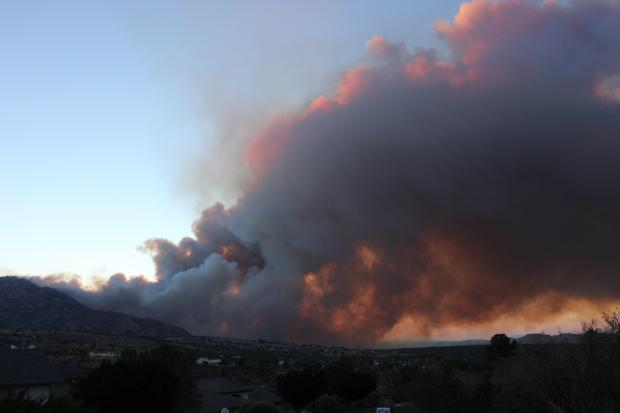 Doce Fire, seen from Williamson Valley Road,