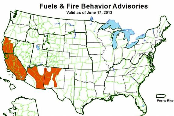 Fuels and fire behavior advisories