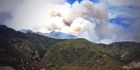 California: Hathaway Fire burns into San Gorgonio Wilderness