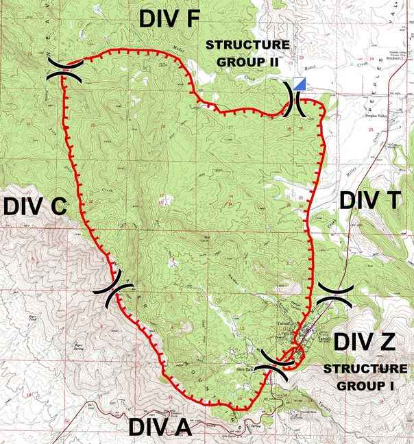 IMTeam's map of Yarnell Fire, July 1, 2013