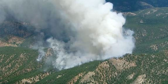 Lime Gulch fire at 3:26 pm MDT, June 19, 2013, from SKY9