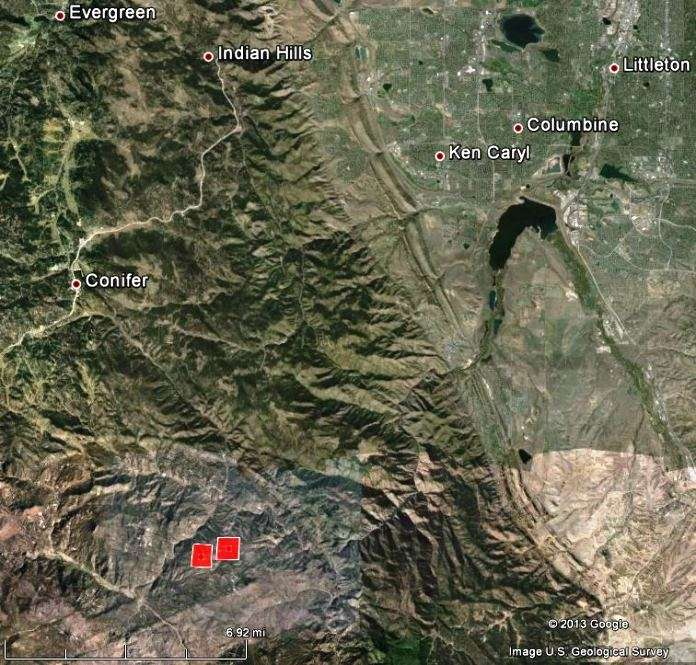Map of Lime Gulch Fire, at 1:49 p...m. MDT, June 19, 2013