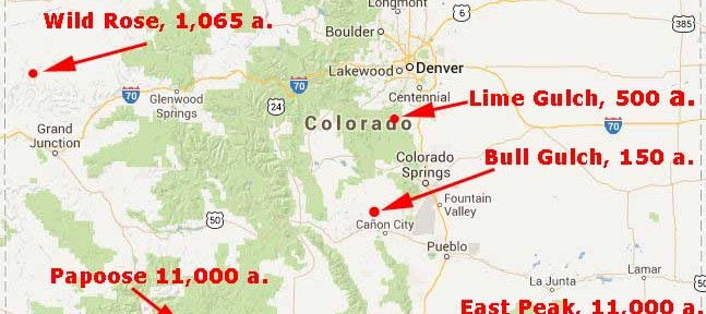 Map of Colorado fires June 22, 2013. Wildfire Today.