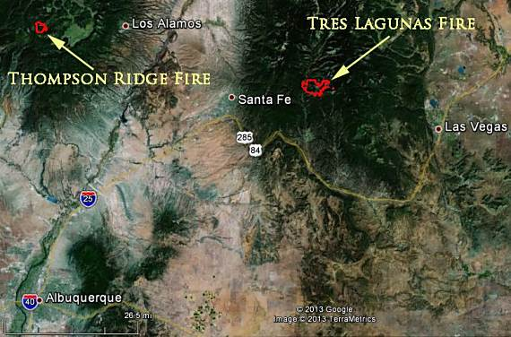 Tres Lagunas and Thompson Ridge Fires