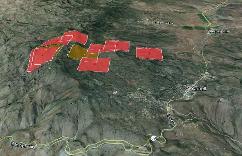 Map of Yarnell Fire