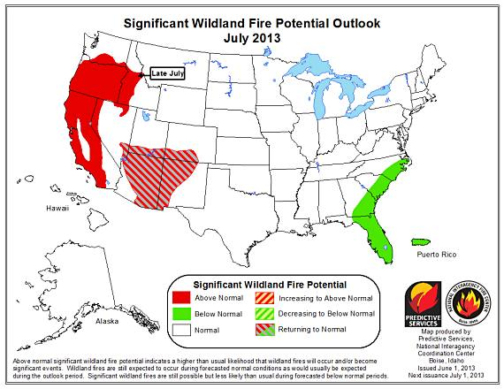 Wildfire outlook July