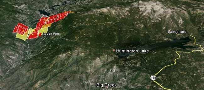 3-D Map Aspen Fire