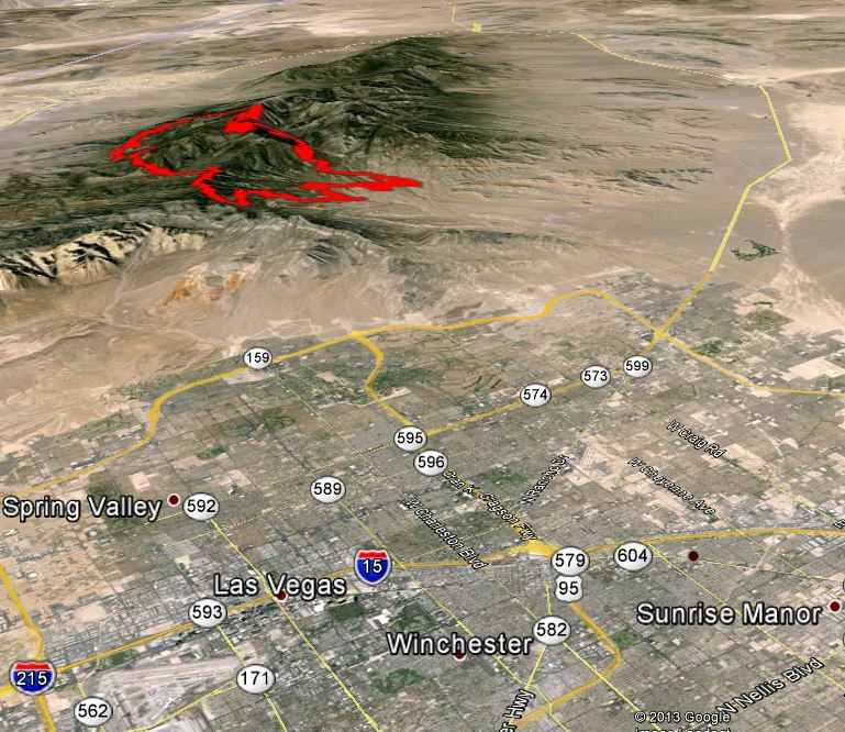 3-D Map of Carpenter 1 Fire,