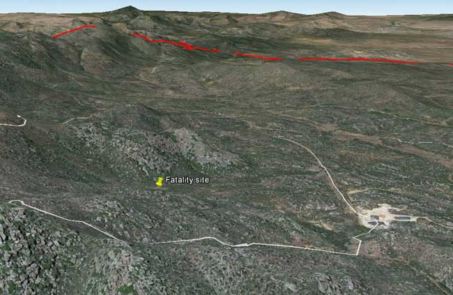 3 D Map Of Yarnell Hill Fatality Site And Ranch Looking North