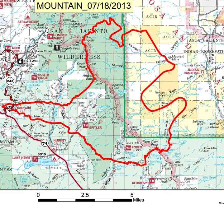 Map of Mountain Fire