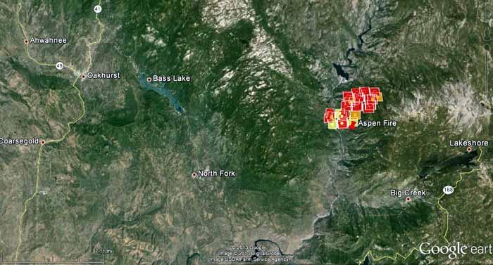 Map Aspen Fire