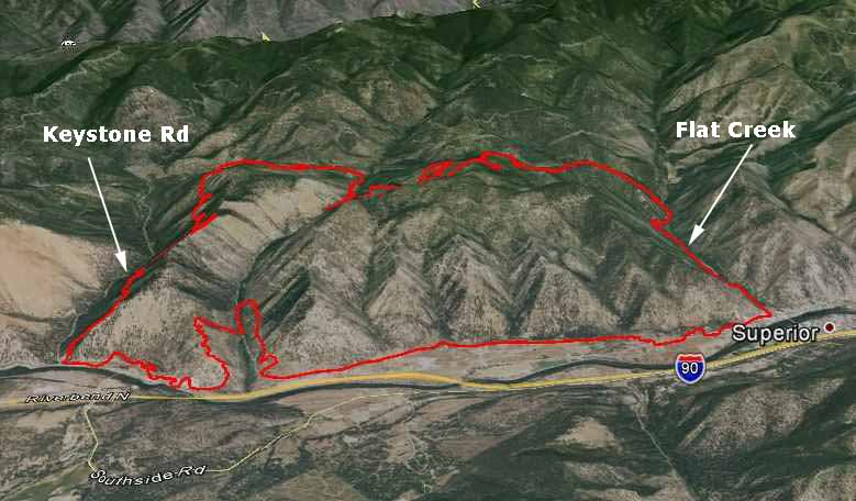 Map of West Mullan Fire,