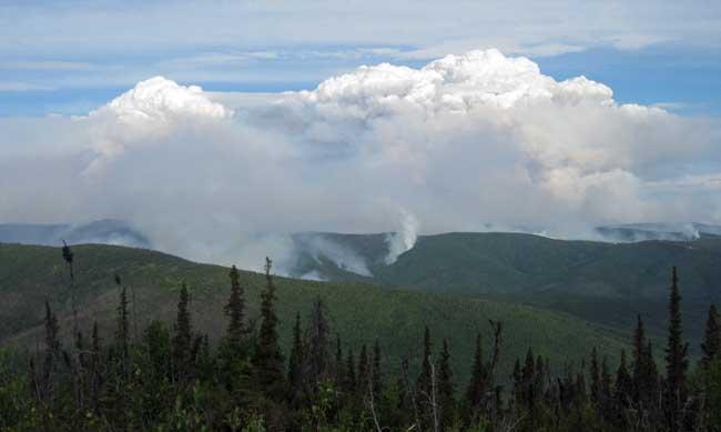 Stuart Creek 2 Fire near Salcha, AK, July 7, 2013