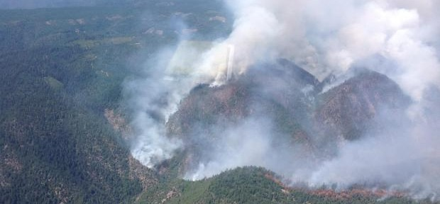 California: American Fire, west of Lake Tahoe