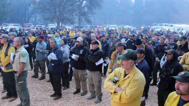 Briefing at Rim Fire