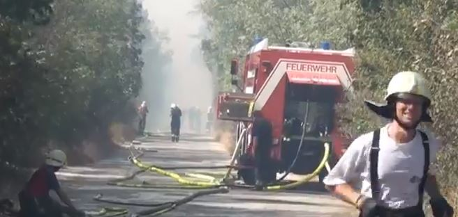 fire Engine on road