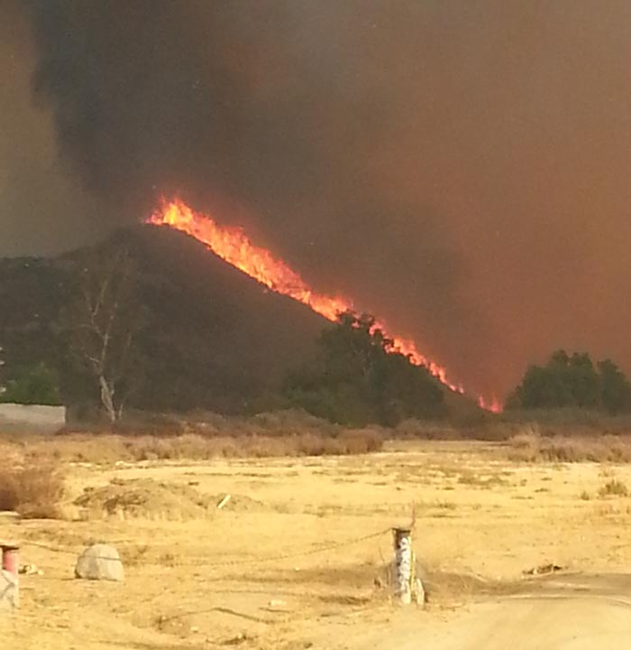 Falls Fire, near Ortega Hwy and Grand, August 5, 2013