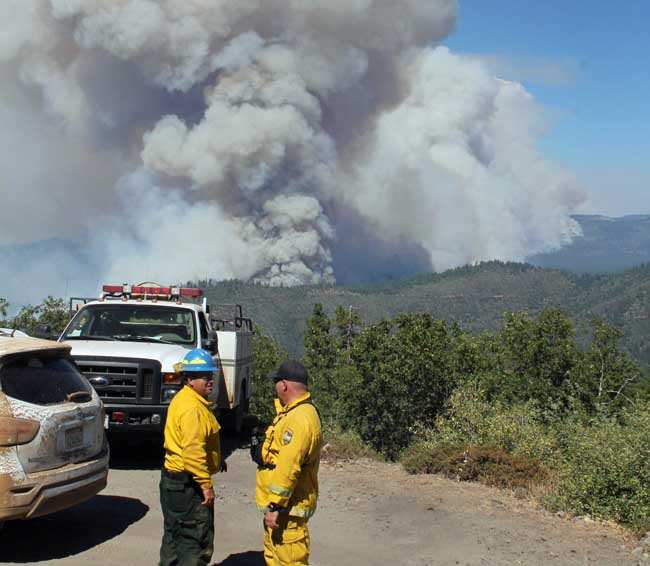 Firefighters at Pilot Peak on the Rim Fire, August 26, 2013