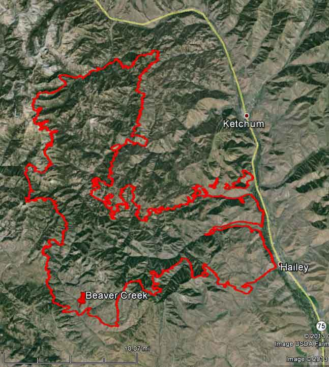 Map Of Beaver Creek Fire At Am MDT August Wildfire Today - Beavercreek trail map