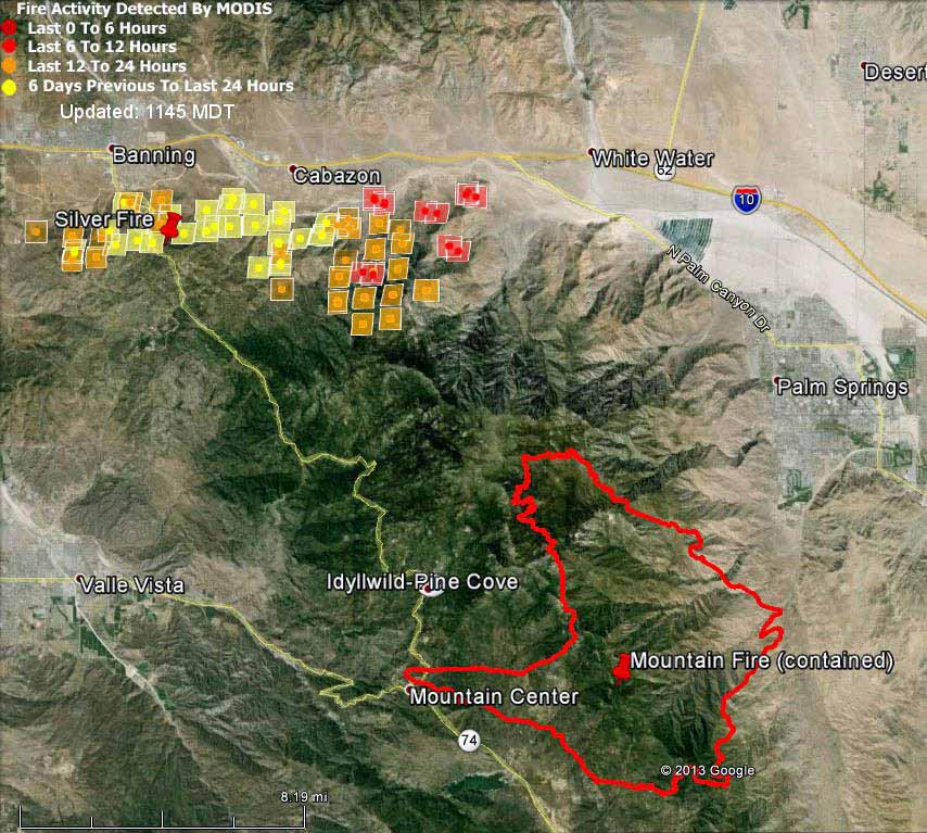 Map of Silver Fire,