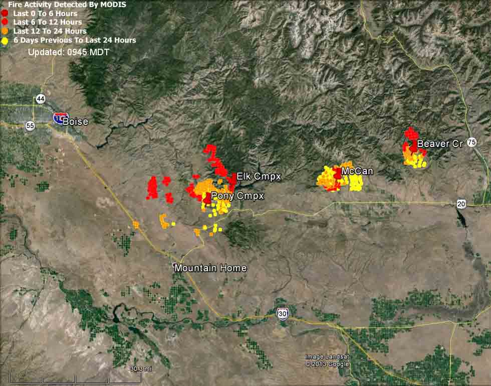Idaho Multiple Fires East Of Boise Wildfire Today