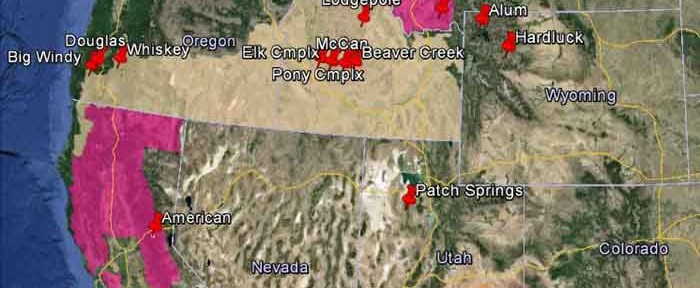 wildfire Red Flag Warnings, August 19, 2013