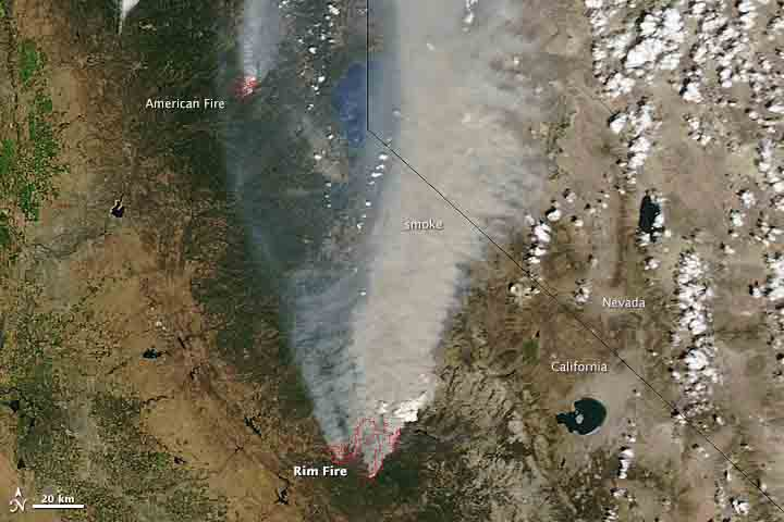 Rim Fire, August 22, 2013. NASA photo.