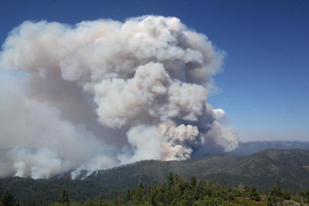 Rim Fire as seen from Pilot Peak Lookout August 26. Photo by Mike McMillan.