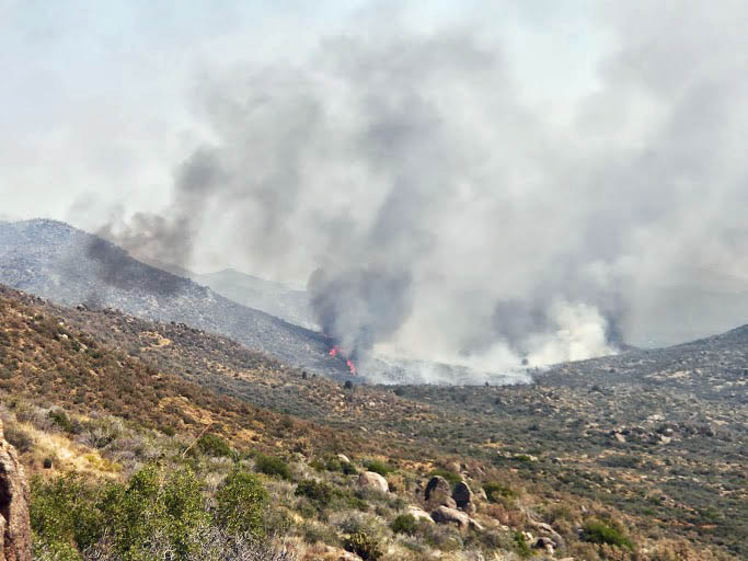 Yarnell Hill Fire, morning of June 30, 2013