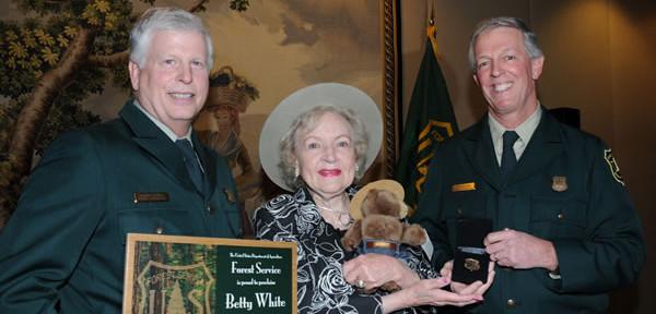 Betty White, honorary Forest Ranger