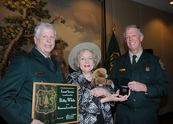 Betty White honorary Forest Ranger