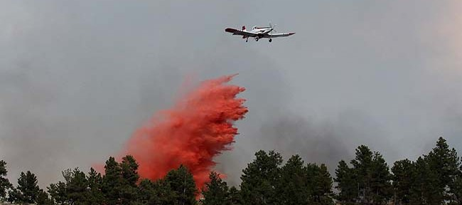 Tanker 463 dropping on the Cascade Fire