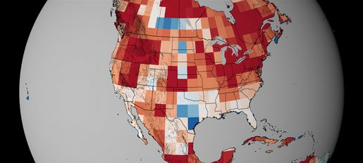 Map elevated wildfire risk, climate change