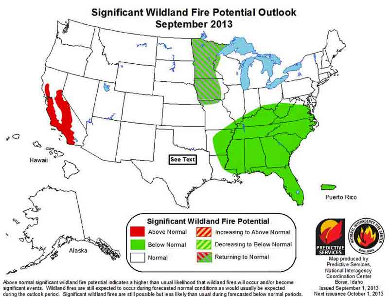 wildfire Outlook Sept 2013