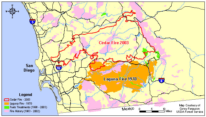 Cedar Fire Californias Largest Wildfire Today - Cedar fire map