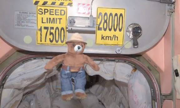 Smokey Bear on ISS
