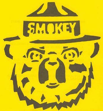 Smokey Bear stencil