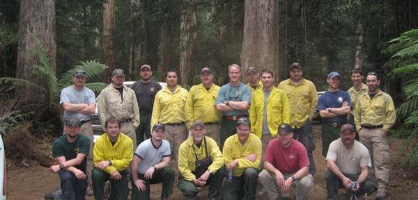 Previous assignments of U.S. firefighters to Australia