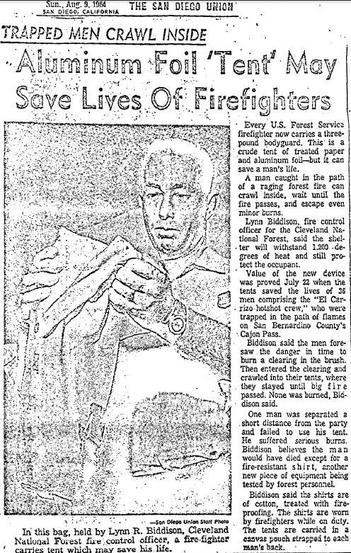 El Cariso Hotshots entrapment, 1964