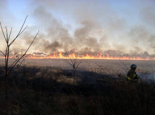 Stones River National Battlefield wildfire