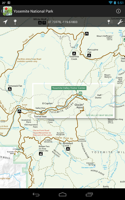 PDF Maps, Yosemite National Park.