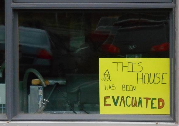 Evacuated sign