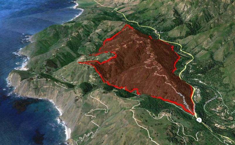 Fire at Big Sur burns homes, forces evacuations   Wildfire Today