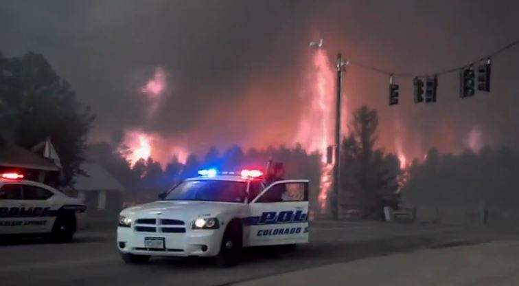 Screen shot from the Colorado fires video