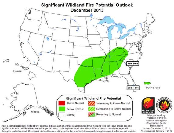 Wildfire outlook December